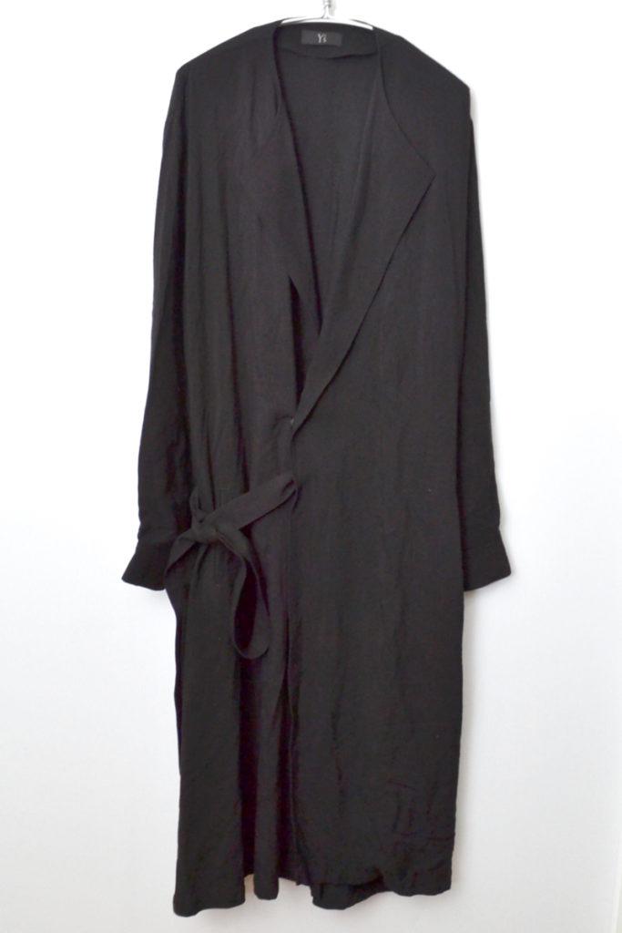 2019AW/ レーヨンキュプラタッサー フレアスナップドレス