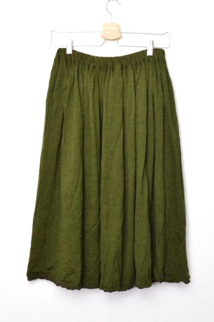 AD2008 08AW/ウール製品染め ウエストゴム ギャザースカートの買取実績画像