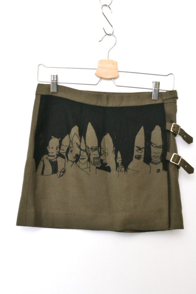 ウールプリント ラップスカート 腰巻 オーバースカート