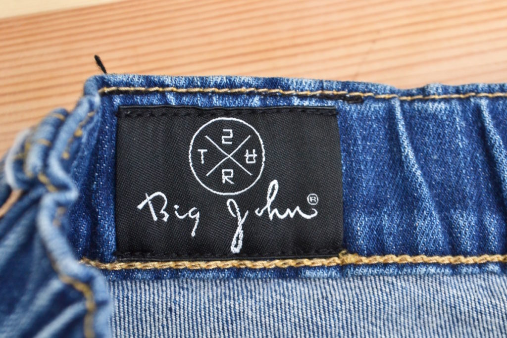 × BIG JOHN ◆ mxsurt001 ペイント加工 デニム イージー パンツの買取実績画像