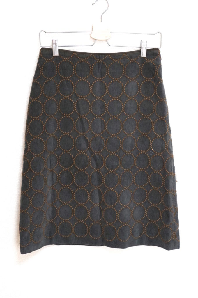2015AW/ tambourine タンバリン コットンウール 刺繍 スカート