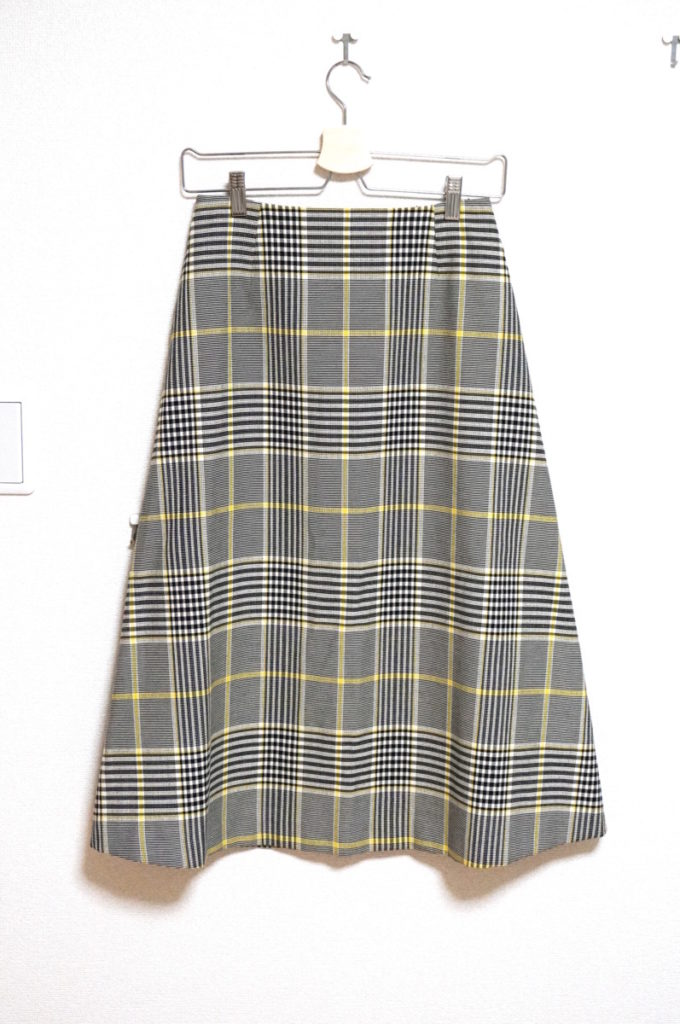 2018SS/ ウールコットンチェック スカート