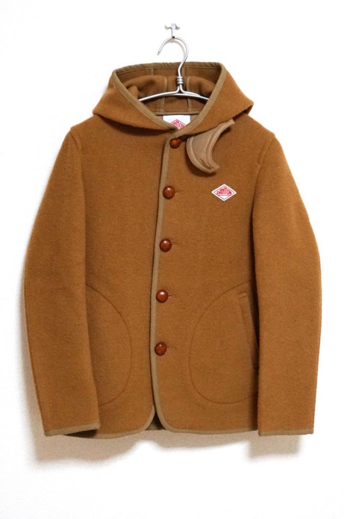 ウールモッサ フード付きジャケット コート