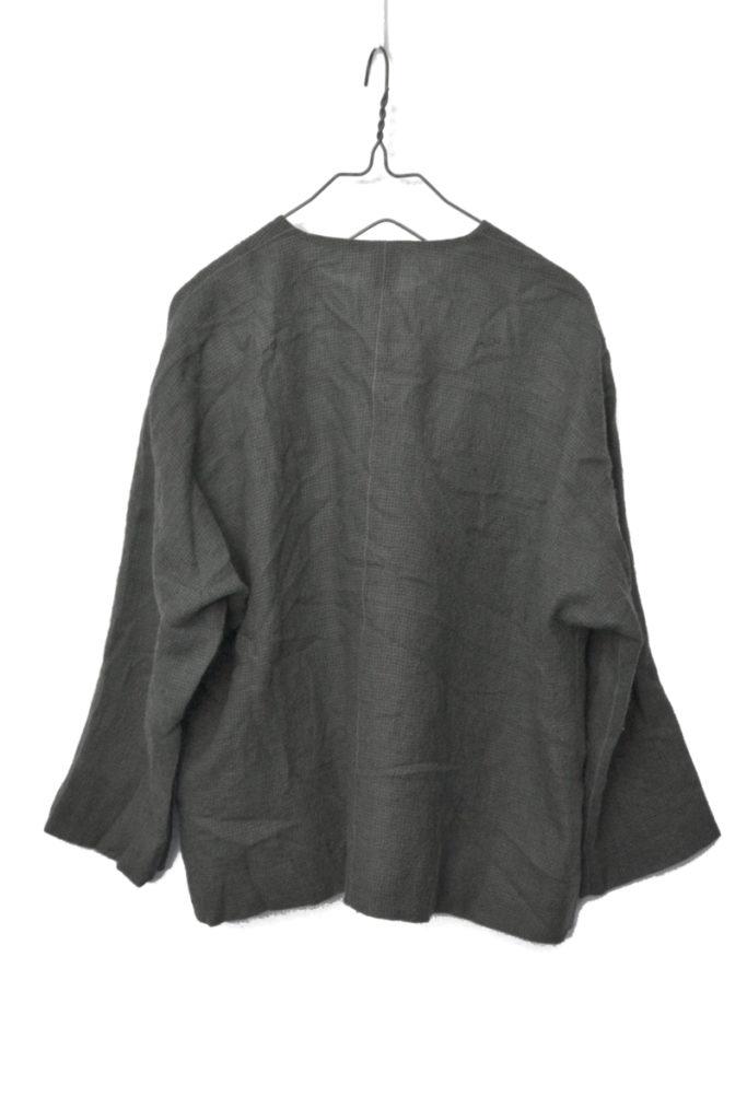 ウール100% ノーカラー ココナッツボタン ジャケット 甘撚りウールの買取実績画像