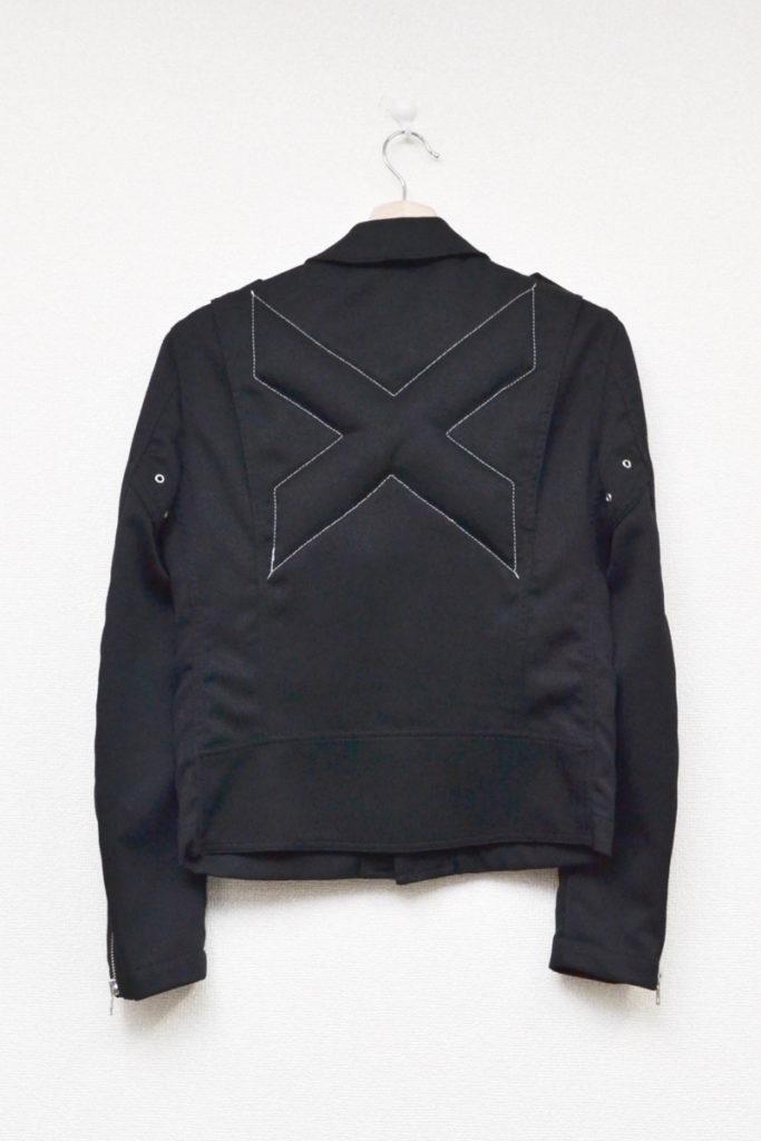 AD2012 2013SS/ポリエステル縮絨 ダブルライダースジャケットの買取実績画像