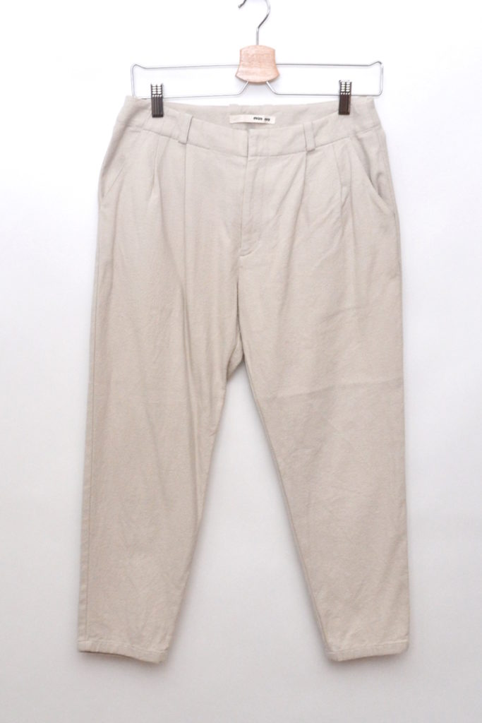 2016aw/ cotton silk tuck pants コットンシルク タックパンツ