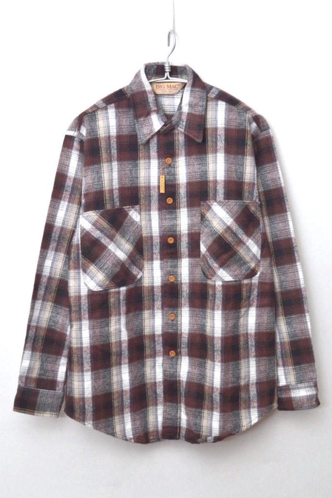 80s ヴィンテージ ヘビーネルシャツ