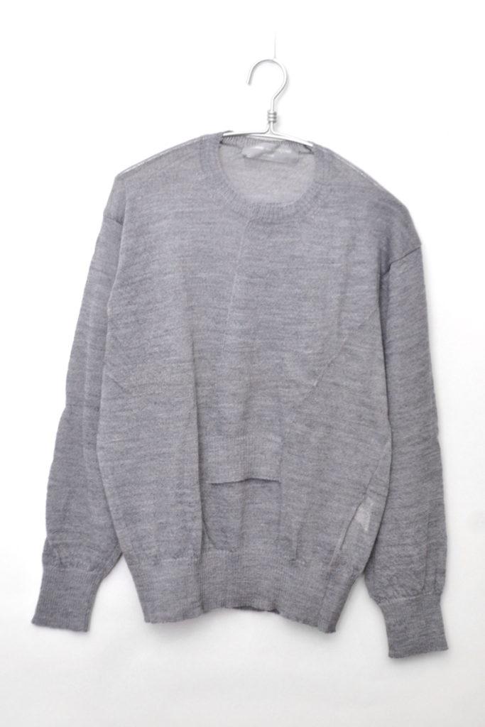 AD1998/ リバースポケット クルーネックニットセーター