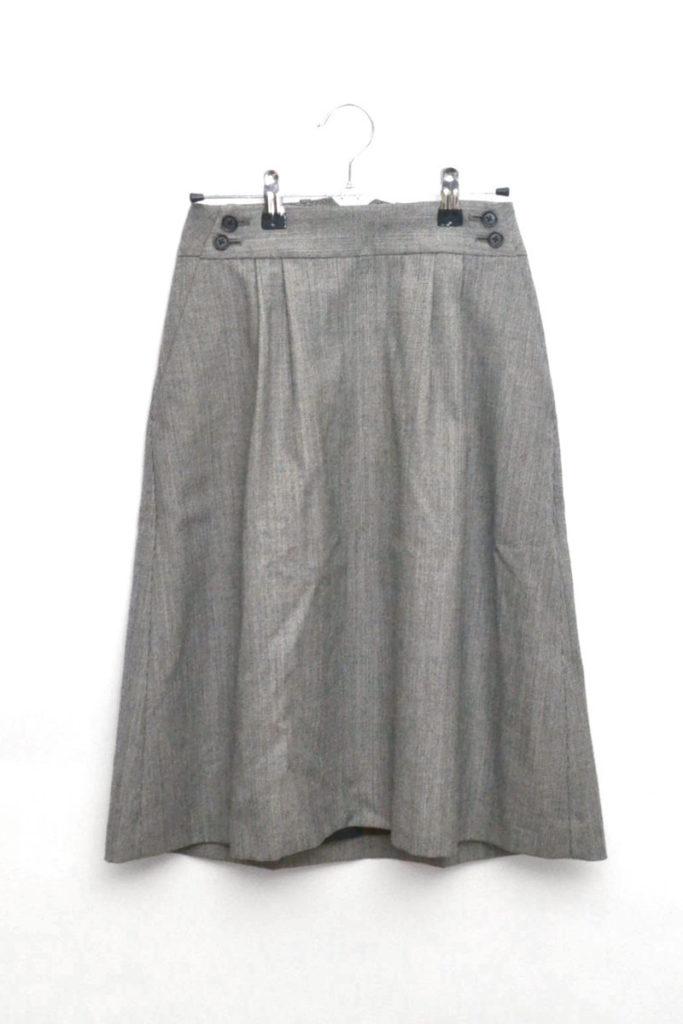 ウールツイード ベルテッドスカート