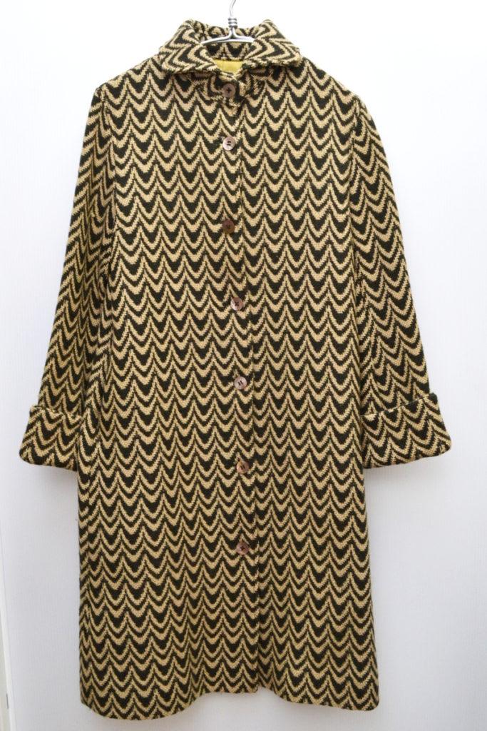 初期 wave ウールワイドカラー コート