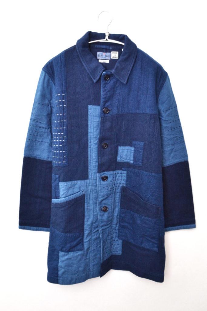 Patchwork Coverall Jacket インディゴパッチワーク ジャケット コート