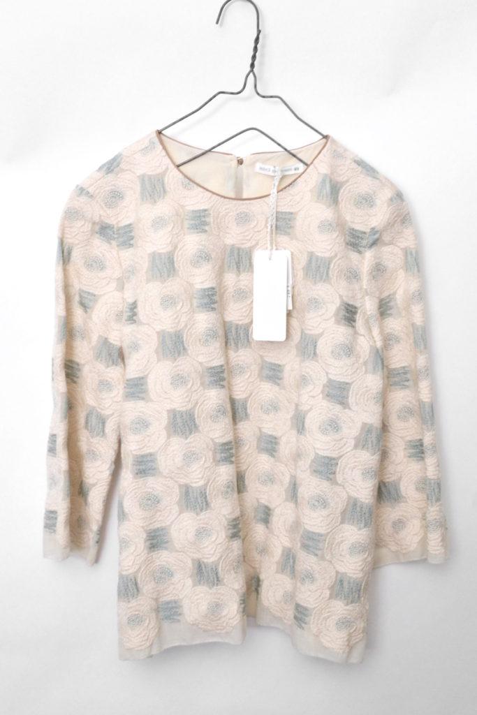 2015aw/Rosas ウール 刺繍 ブラウス