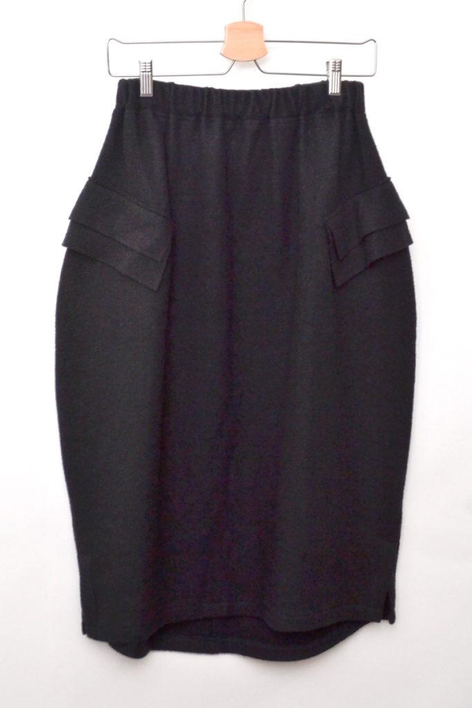 ウールメルトン ポケット付き バルーンシルエットスカート