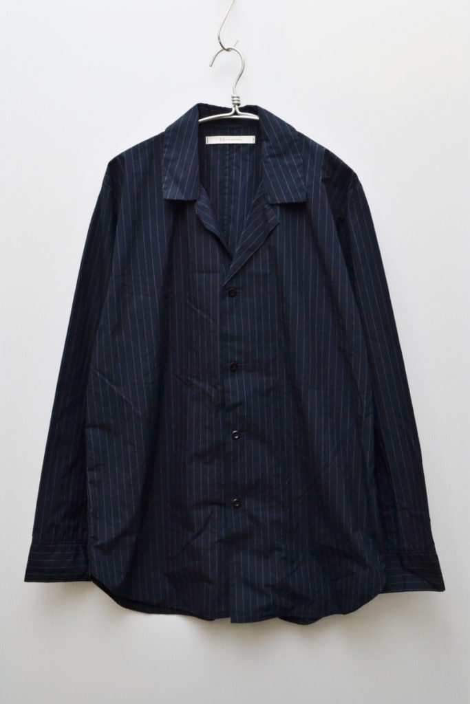 2018SS/Stripe Open Collar Shirt Jacket ストライプ オープンカラー シャツジャケット