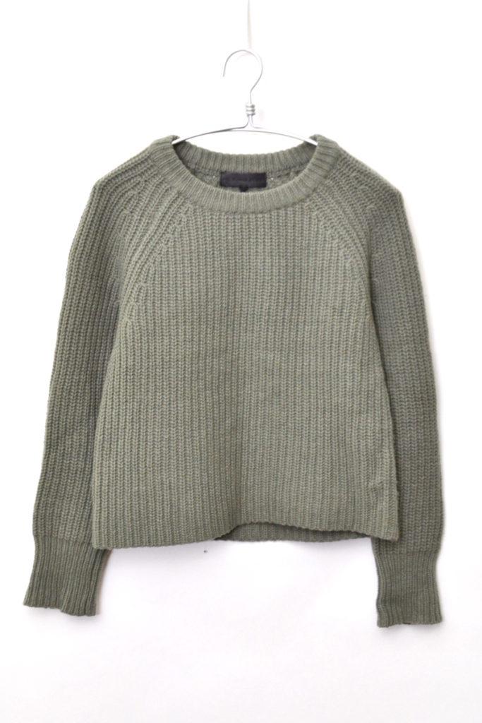 Bonnie Wool Crew Neck Sweater ローゲージ 畦編みニット セーター