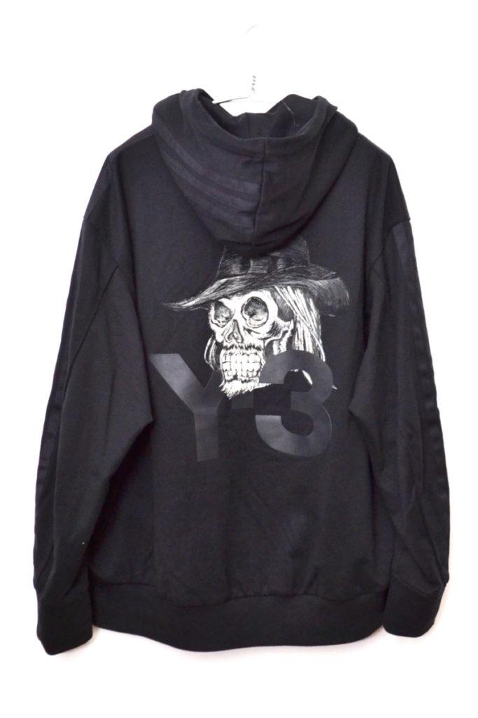 2019SS/ Yohji Skull Hoodie ヨウジ スカル刺繍 スウェットパーカーの買取実績画像