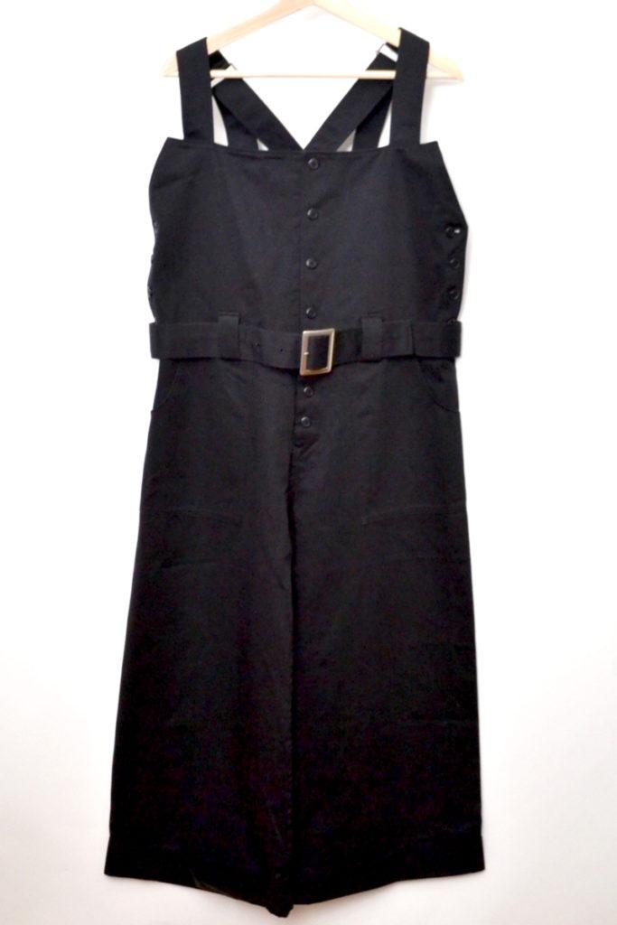 サイドボタン ベルト付き オールインワン サロペット