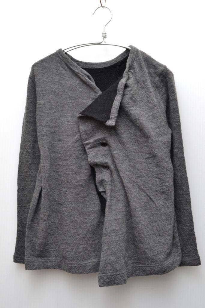 2013AW/ウール縮絨 2枚重ね ニット変形ジャケット