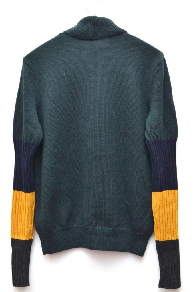 Contrast Sleeve Sweatshirt コントラストスリーブ ショールカラーニット セーター