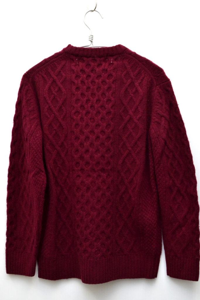 GREEN LABEL RELAXING/ハミルトンラム アラン クルーネック ニット セーターの買取実績画像