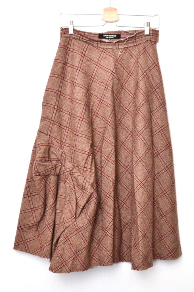 AD2003 03AW/ ツイード リボン ロングスカート