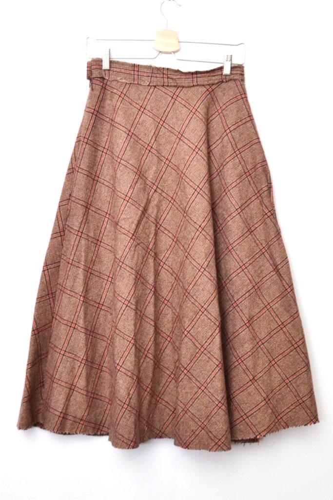 AD2003 03AW/ ツイード リボン ロングスカートの買取実績画像
