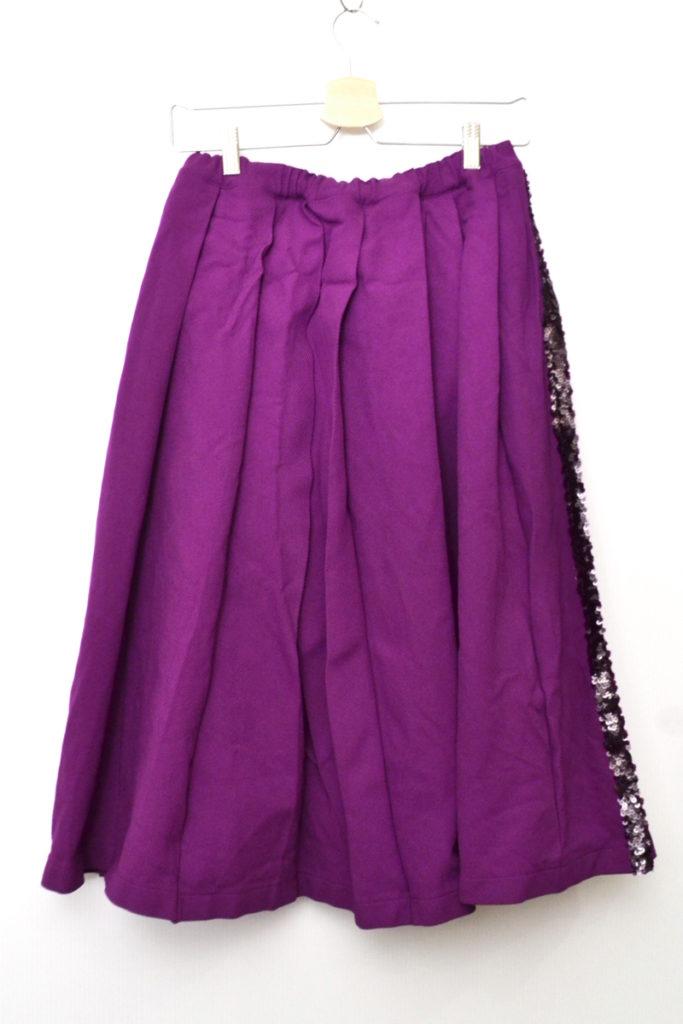 AD2005/ ポリエステルツイル スパンコール ボリュームスカート