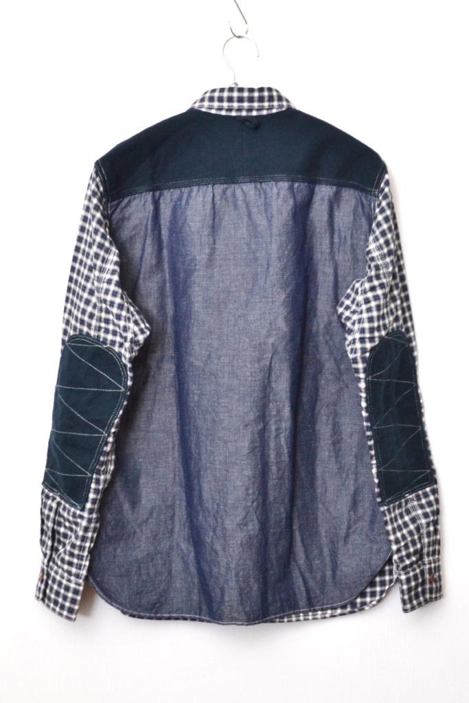 2019AW/エルボーパッチ付きステッチ使いロングスリーブチェックシャツの買取実績画像