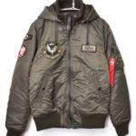 ワッペン付き フード MA-1 フライト ジャケット