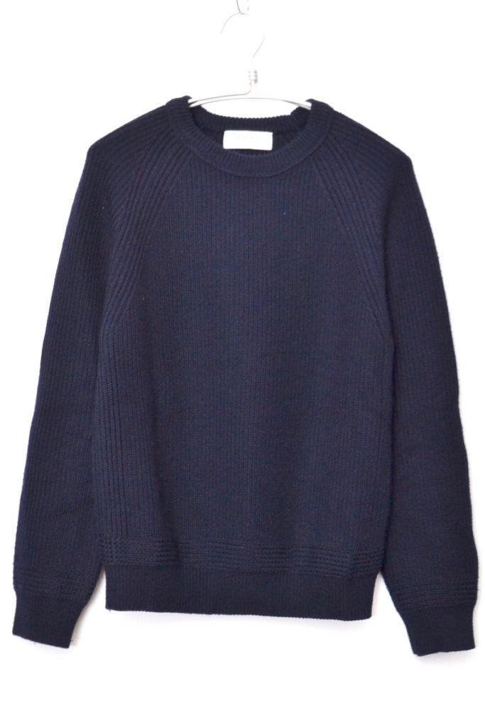 畔編みニット クルーネックセーター