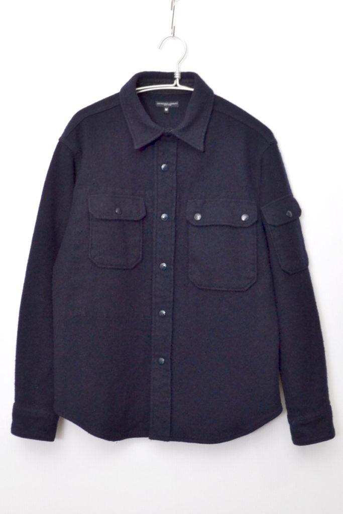 CPO Navy Wool Shirt Jacket ウール CPOシャツ ジャケット