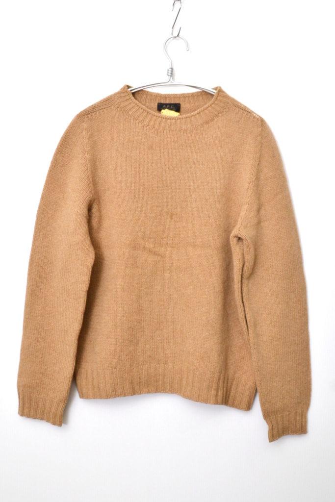 ミドルゲージ クルーネックニットセーター