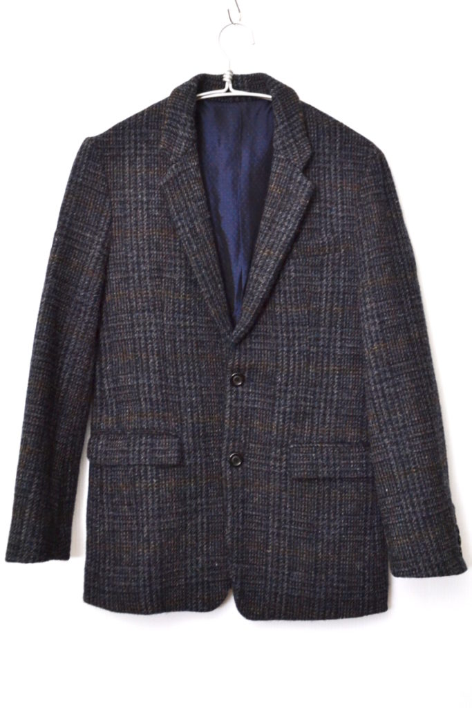 HARRIS TWEED MIDDLE LENGTH 2B NOTCHED LAPEL JACKET ハリスツイード ジャケットの買取実績画像