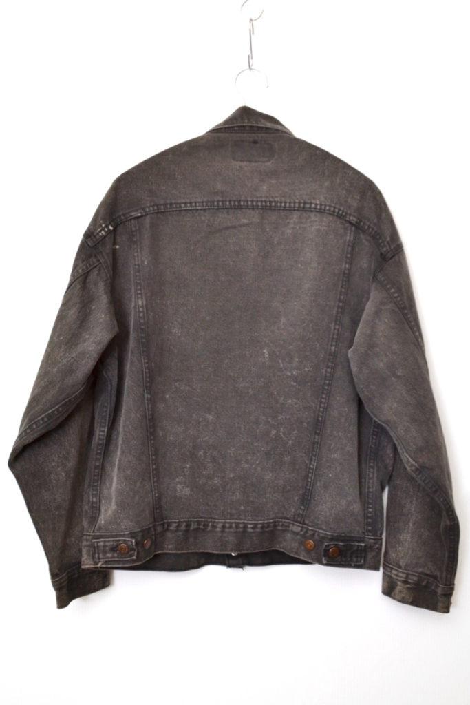 1990s/70507-0253 MADE IN USA ブラックデニムジャケットの買取実績画像
