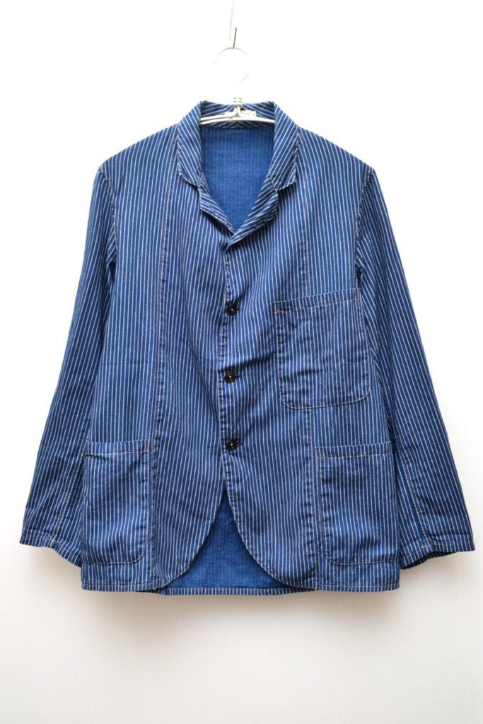 1900's Three Pocket Indigo Stripe Jacket O/W ストライプ ワークテーラードジャケット