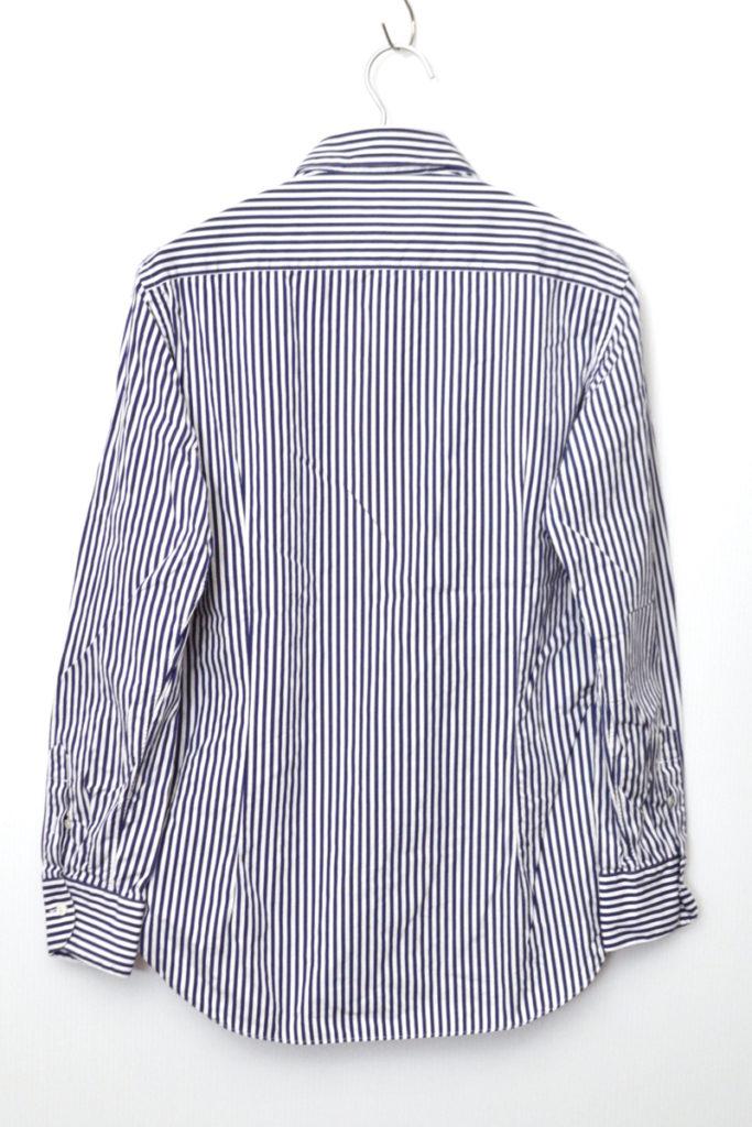 コットンポプリン ストライプ ワイドカラーシャツの買取実績画像