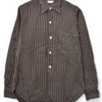 ストライプ ワークシャツ