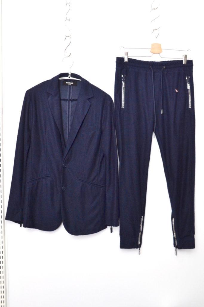 パイル 装飾 ジップ ジャケット パンツ セットアップ