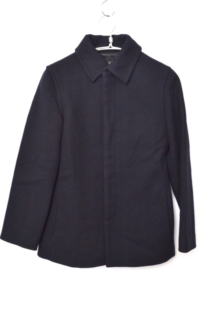 ウール ステンカラー コート フランス製