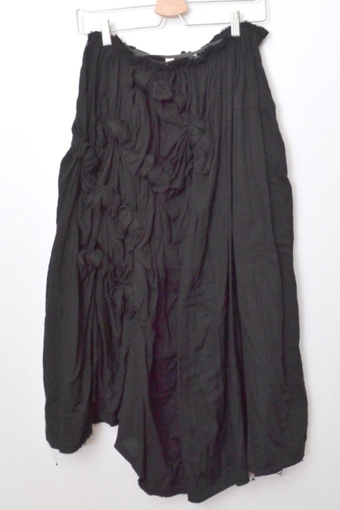 AD2002/ 変形結び目デザイン コットン ボリューム スカート