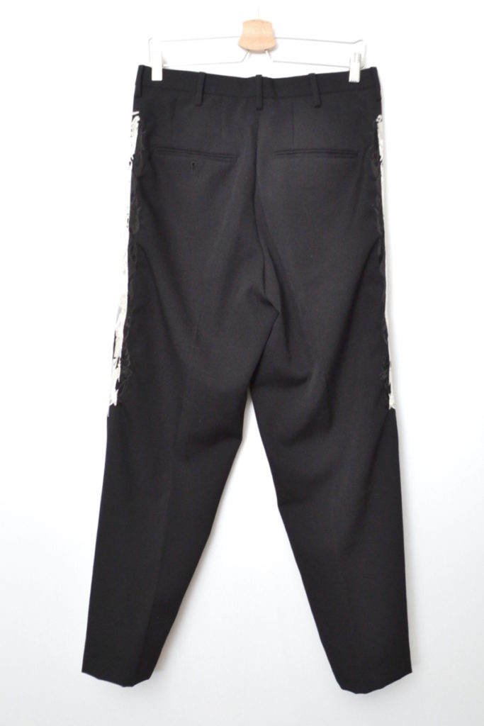 2019AW/ LINED CHAOS EMBROIDERY WIDE TAPERED TROUSERS ワイド テーパード パンツの買取実績画像