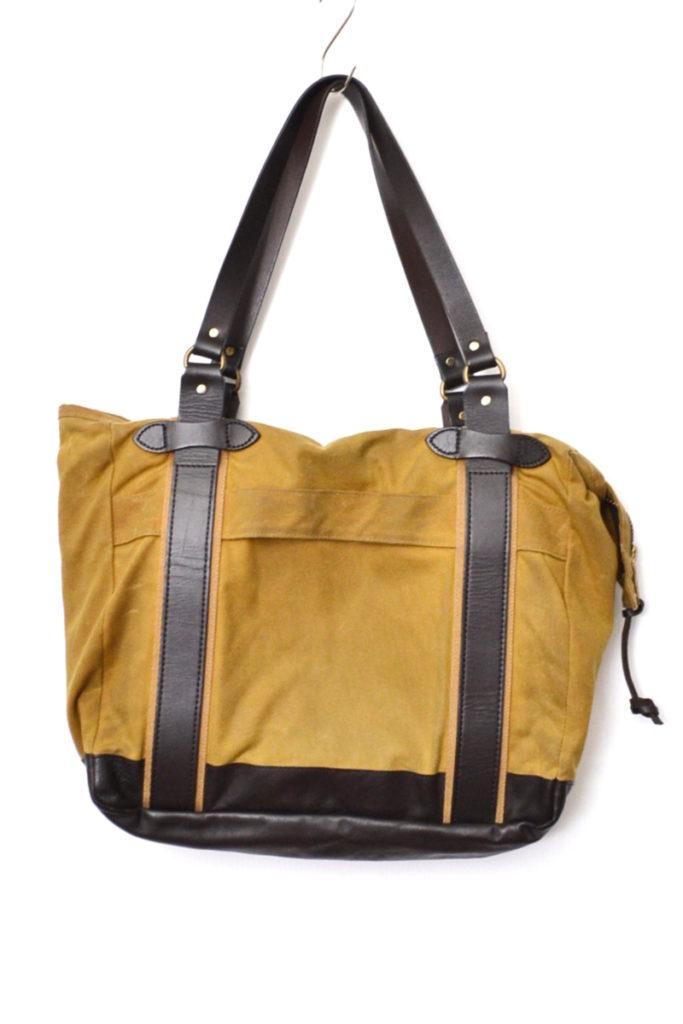 レザー × ティンクロス ジップ付き トートバッグの買取実績画像