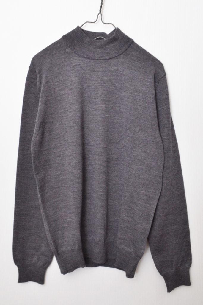 メリノウール モックネックニット セーター