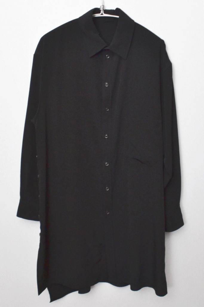 2019AW/シルクライク ポリエステル 片サイドスリット ワイドロングシャツの買取実績画像