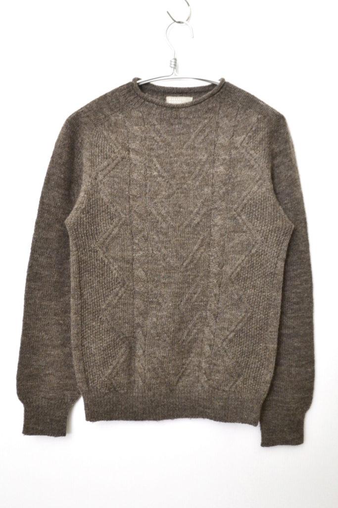 ウール ケーブル編み ニット セーター