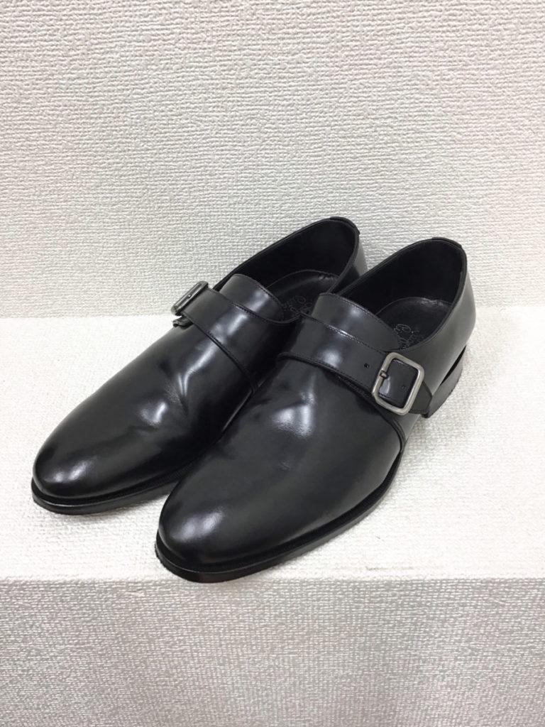 シングルモンクストラップ シューズ 革靴