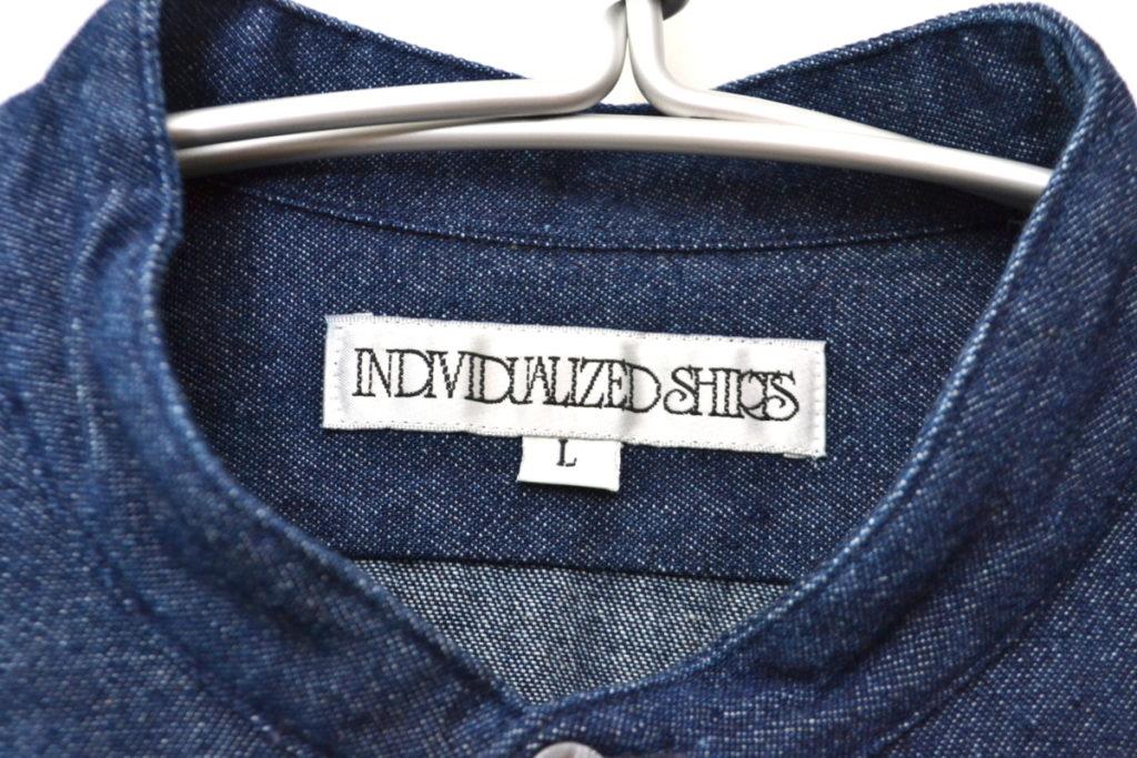 ノーカラー デニム ワイド ボックスシャツの買取実績画像