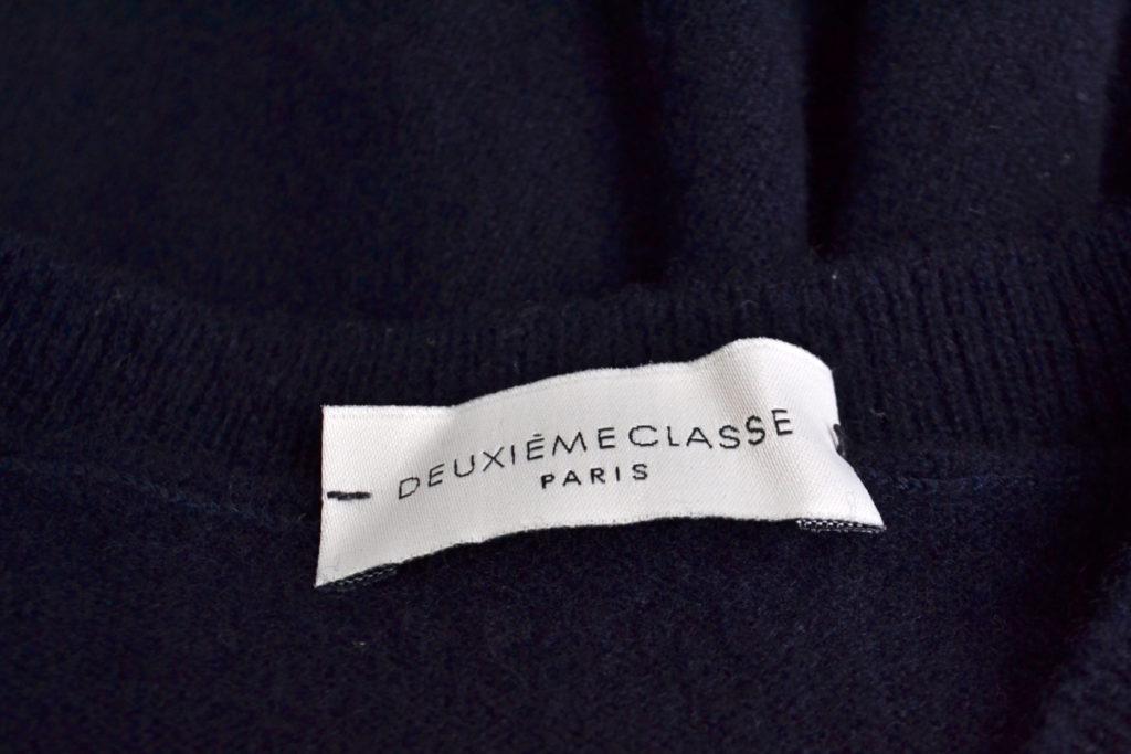 片側スリット ウール クルーネック ニット セーターの買取実績画像