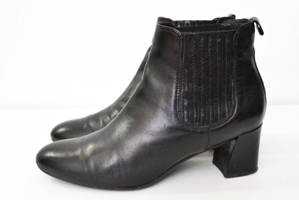 チャンキーヒール サイドゴア ブーツの買取実績画像