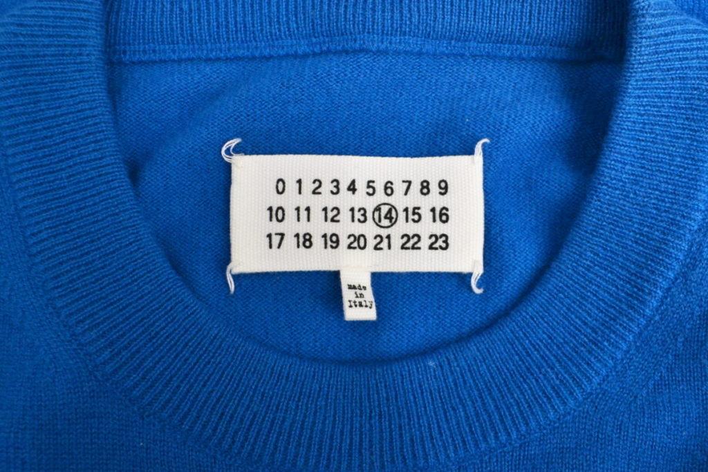 ウール エルボーパッチ クルーネック ニット セーターの買取実績画像